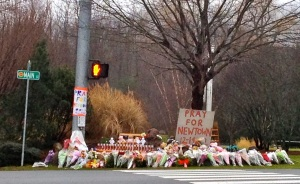 Memorial in Newtown,Ct. Photo credit, Kate Mayer